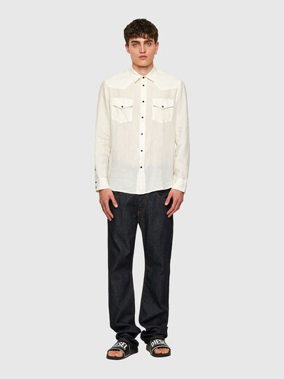 Diesel - S-EAST-LONG-LIN, White - Shirts - Image 5