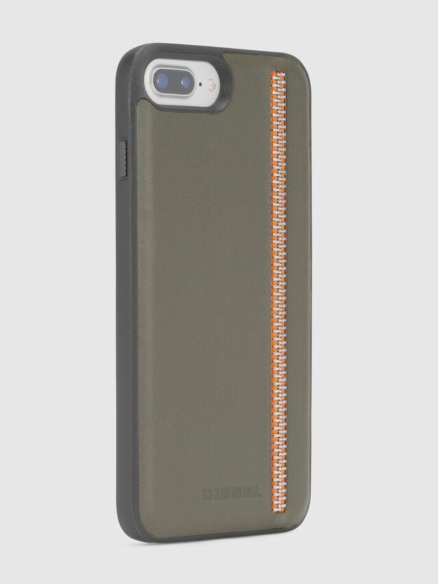 Diesel - ZIP OLIVE LEATHER IPHONE 8 PLUS/7 PLUS/6s PLUS/6 PLUS CASE, Olivgrün - Schutzhüllen - Image 6