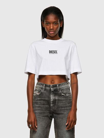 Diesel - T-RECROP-ECOSMALLOGO, Blanc - T-Shirts - Image 1