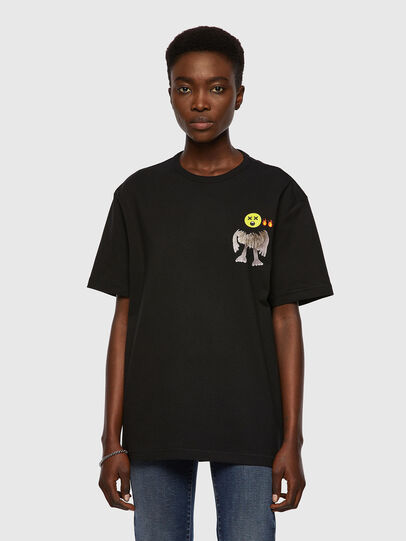 Diesel - T-BOYISH, Noir - T-Shirts - Image 1