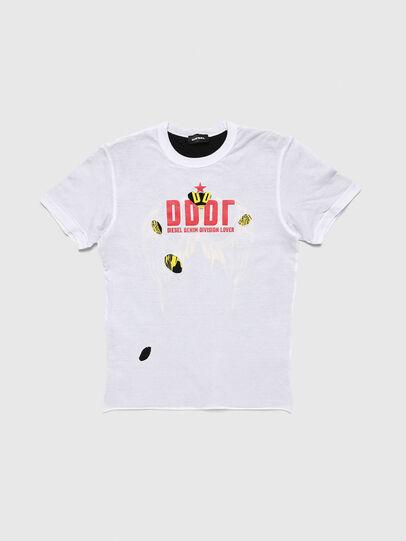 Diesel - TJUSTLAY, Weiß/Schwarz - T-Shirts und Tops - Image 1