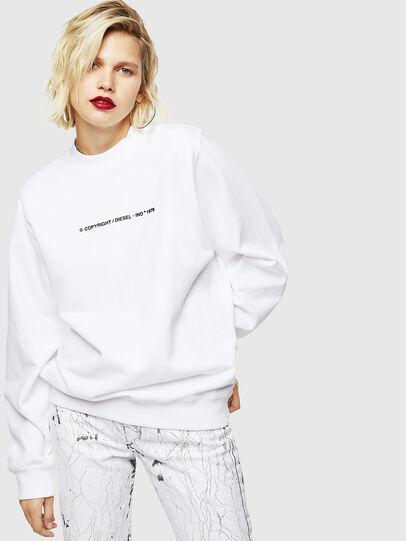 Diesel - F-ANG-COPY, Weiß - Sweatshirts - Image 1