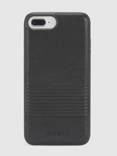 Diesel - BLACK LINED LEATHER IPHONE 8 PLUS/7 PLUS/6s PLUS/6 PLUS CASE, Schwarz - Schutzhüllen - Image 2
