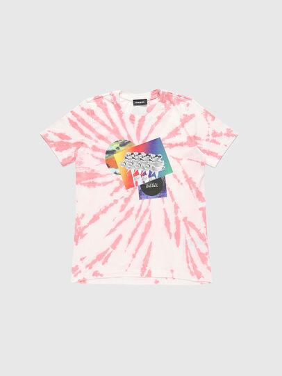 Diesel - TSILYTD, Rosa/Bianco - T-shirts e Tops - Image 1