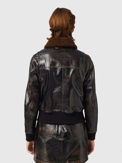 Diesel - L-TRACY, Black - Leather jackets - Image 2