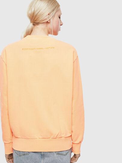 Diesel - S-BIAY-FLUO, Orange - Sweatshirts - Image 4