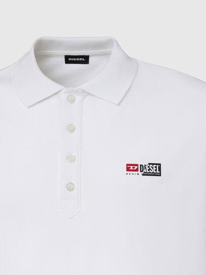 Diesel - T-WEET-SPLIT, Blanc - Polos - Image 3