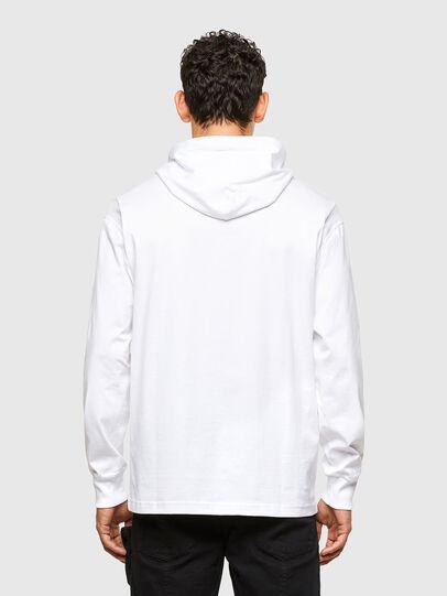 Diesel - T-FONTAL-LS-HOOD, Weiß - T-Shirts - Image 2