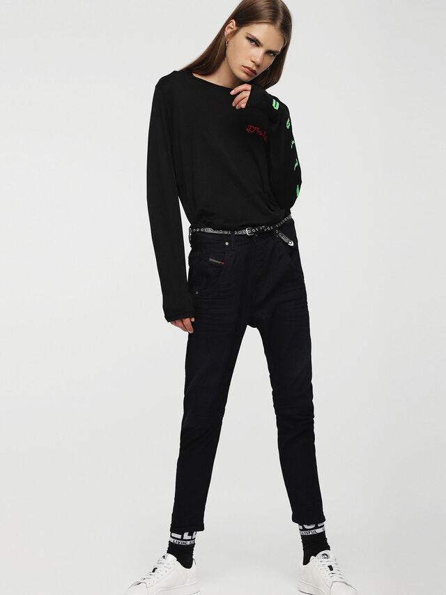 Diesel Fayza JoggJeans 0829P, Dunkelblau - Jeans - Image 4
