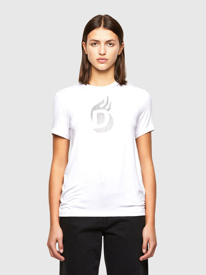 Diesel - T-SILY-R1, Bianco - T-Shirts - Image 1