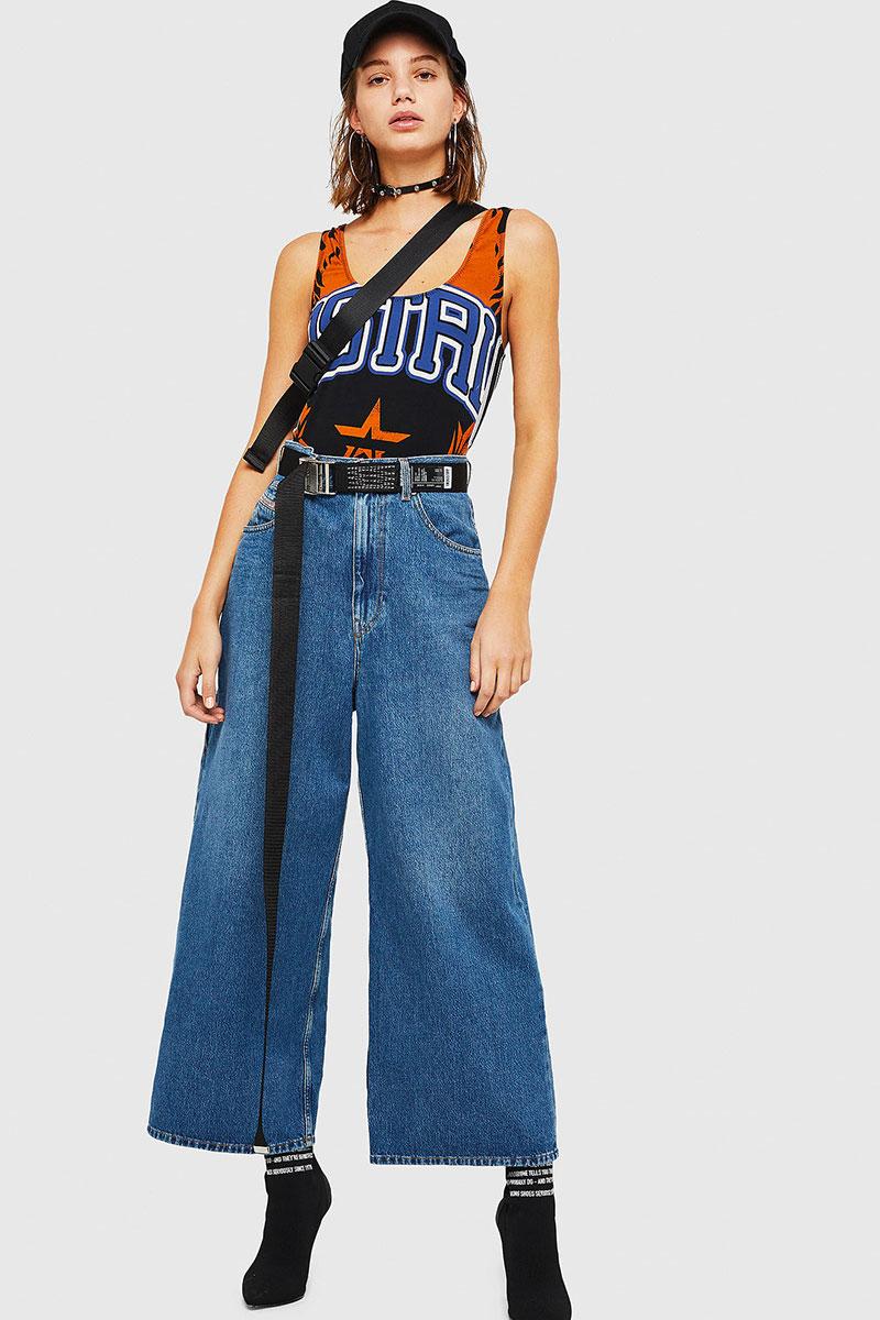 Diesel Jeans Woman Wide