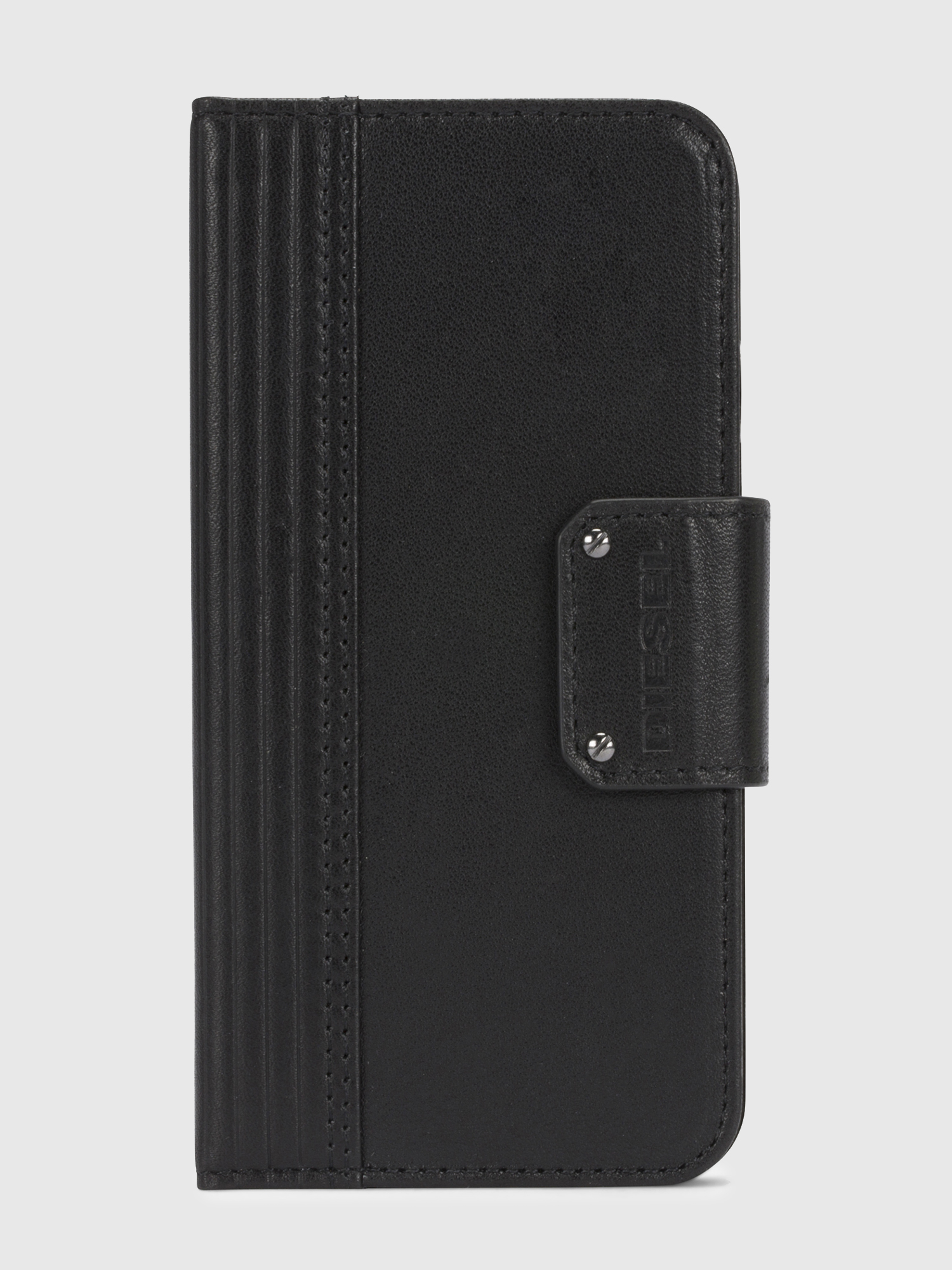 Diesel - BLACK LINED LEATHER IPHONE X FOLIO,  - Klappcover - Image 2